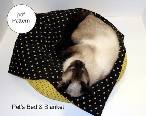 Pet S Bed And Blanket Pdf Sewing Pattern