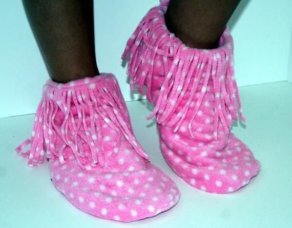 Fleece Moccasin Slippers Pdf Pattern