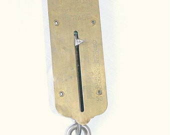 Brass Hanging Scale Vintage Brass Metal John Chatillon and Sons