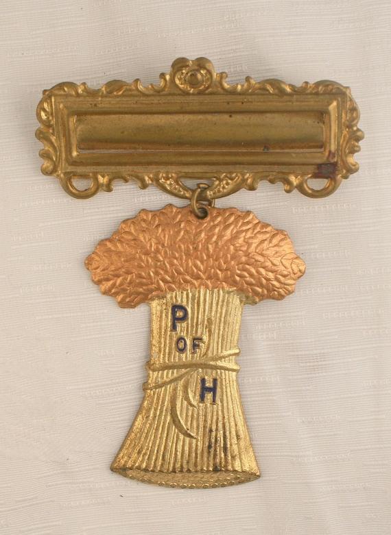 vintage mason grange brooch pin p of h by camanoislandvintage. Black Bedroom Furniture Sets. Home Design Ideas