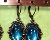 Summer Water Florida Keys Bejeweled Vintage Earrings