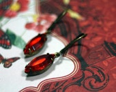 Burning Embers Swarovski Petite Dangle Earrings Hyacinth  Dolce Ghiacco