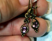 Antique Rose Step Back In Time Petite Dangle Earrings Swarovski's Newest Color