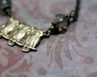 Petite Owl Trio Necklace  by Twilight Shades