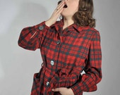 Black Friday Sale - Vintage 1950s Pendelton Robe // Holiday Gifts at Fab Gabs: The Christmas Calling Women's Wool Robe