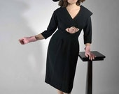 Vintage 1950s Cocktail Party Dress // The Let's-a-Make-Love Dress // Autumn Fall Fashion Mad Men Style