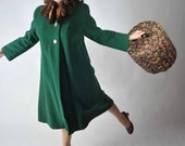 Vintage 1940s Coat // Winter Fashion at Fab Gabs: The 34th Street Emerald Swing Coat with Mink Collar
