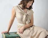48-Hour Sale - Vintage 1950s Dress // Spring Fashion at Fab Gabs: The Joyeuse Dotted Day Dress