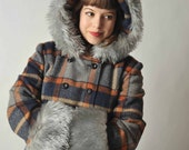 Vintage 1970s Hooded Coat // Winter Fashion at Fab Gabs: The Winter Royalty Floor Length Hooded Coat