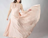 Vintage 1930s Dress // Spring Fashion at Fab Gabs: The Hyacinth Pink Silk Gown XL
