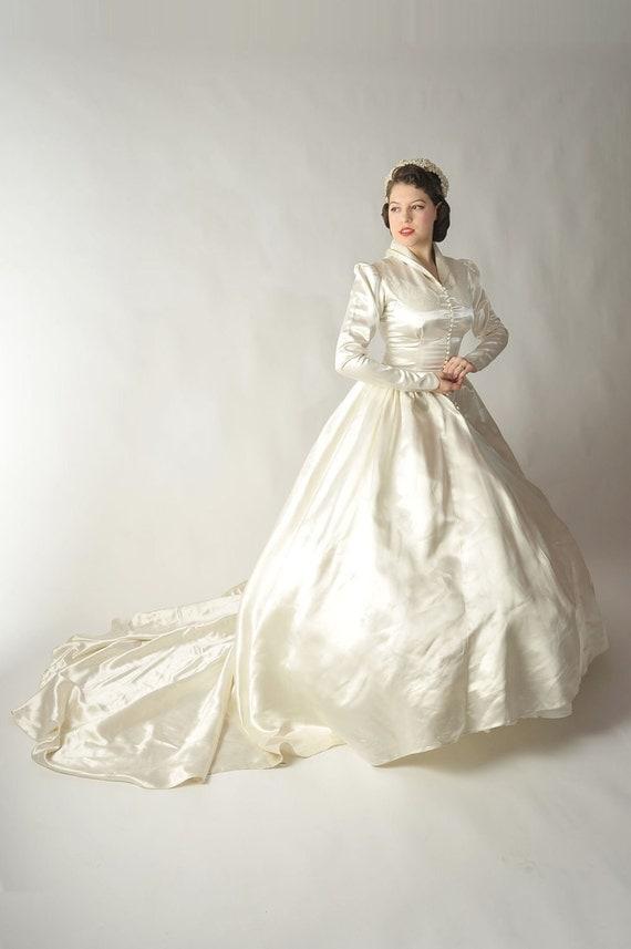 Reserved On Layaway Vintage 1950s Wedding Dress Bridal