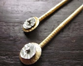 Gold and Silver Tube Earrings