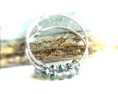 Sahara Green Asian Crystal, Silver Brass - Hoop Earrings - Fall Fashion