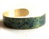 Deep Blue Patinaed Hammered Brass - Cuff Bracelet - Patina Jewelry - Grid - Fall Fashion- Black Friday