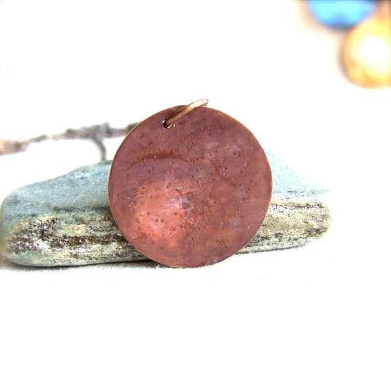Mercury - Patinaed Copper - Patina Necklace - Planet, Solar System - Fall Fashion- Black Friday
