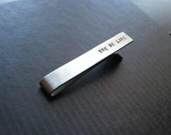 Tie Bar - Custom - Clip to keep neckties in place - Nickel