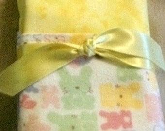 Bunny Receiving Blanket 21 x 19
