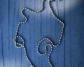 SALE SALE SALE Silver Plated Ball Link Chain Necklaces With Connectors 24 Inches 2mm (pendant not included) Also known as a dogtag chain