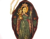 Virgin Mary and Baby Jesus Fabric Ornament