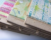 PRICE BREAK-5 Blank Recycled Scrapbooks/Journals made with natural paper-Assorted Designs