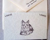 YORKIE Yorkshire Terrier dog note cards card gift hand crafted 5 pack rescue group
