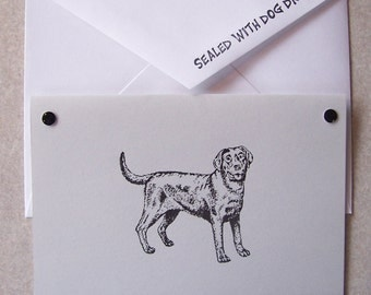 LABRADOR Retriever dog note cards card gift hand crafted 5 pack rescue group