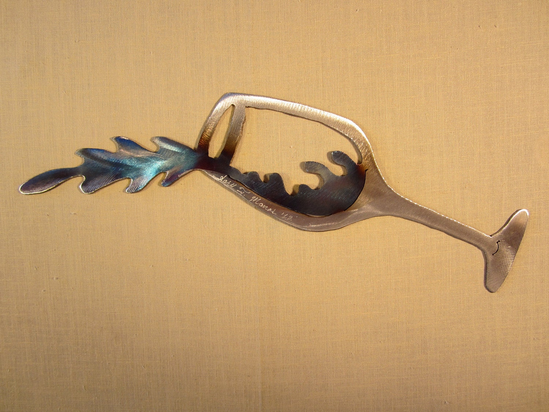 Wall Decor Wine Glasses : Spilling wine glass steel metal wall art cellar pinot noir