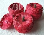 3 - mini apple baskets