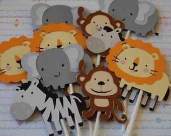 SAFARI Animal Cupcake Toppers