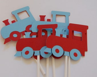 Train Cupcake Toppers
