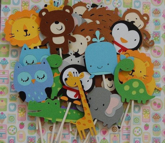 Choose your own Animal Cupcake Toppers (boy)