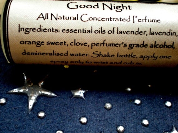 Good night all natural perfume concentrate to relax and calm - Good night nature pic ...