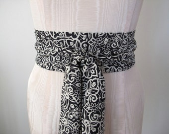 Silk Obi Belt in a Skinner Couture Silk Vintage Designer Fabric  by ccdoodle on etsy - made to order