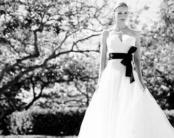 Satin Sash, Black Matte Satin Wedding Sash, Bridal Sash, Black Sash, Longer Length