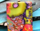 Abstract Summer Flower Polymer Clay  Pendant