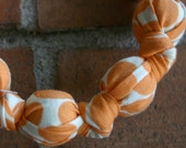 Creamsicle Dots Chomping Necklace