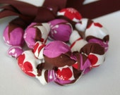ORGANIC Plum Chomping Necklace for Teething Babies