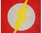 Lightning Bolt Superhero TWO Machine Applique Embroidery Designs, Multiple sizes including 4 inch