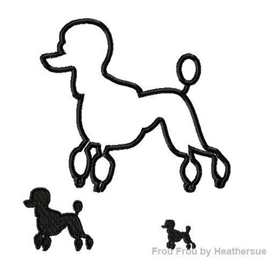 Poodle silhouette for poodle skirt for Poodle skirt applique template