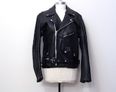 RESERVED black motorcycle jacket . M