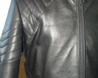 Motorcycle style Men's LEATHER jacket Sizes XS to XXL - Made to measure