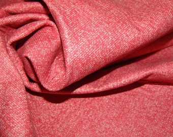 SALE 2 sided fun lambskin leather in coral pic nic style pattern a cutting of 2.5 square foot