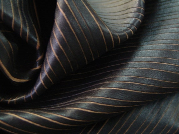 Gorgeous Choco brown pin stripe laser cut soft as butter  lambskin - a full hide of 8 plus square foot.