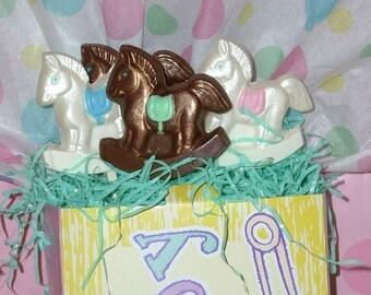 Chocolate Rocking Horse Lollipops
