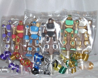 Chocolate Robot Lollipops