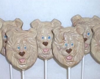 10 Chocolate Lion Lollipops