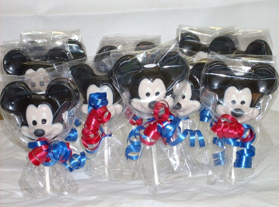 Reserved for Amanda 30 Chocolate Mickey  Mouse Lollipops
