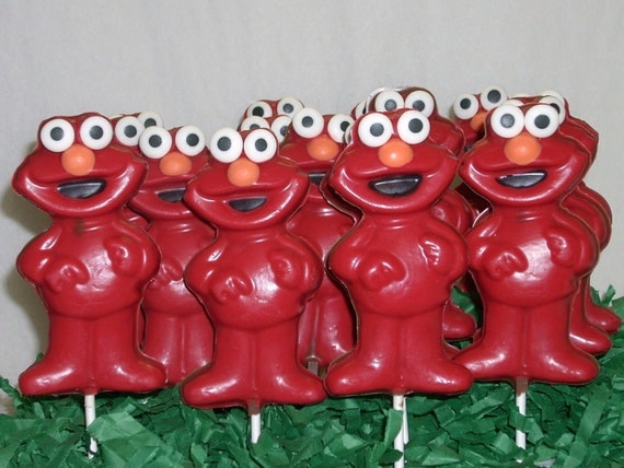 24 Elmo lollipops