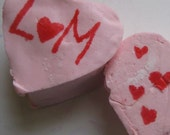 Pink Monogrammed Vanilla Marshmallow Hearts