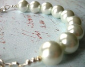Chunky White and Silver Necklace